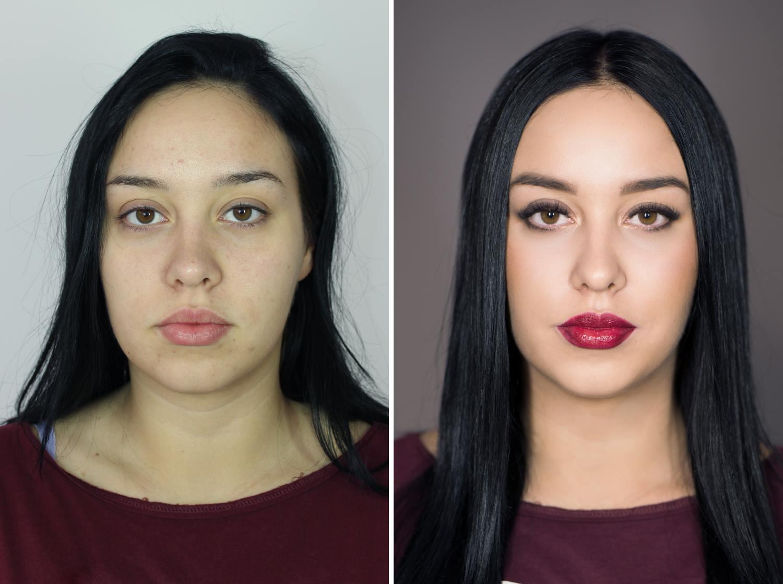 metamorfoza rzęsy i makijaż